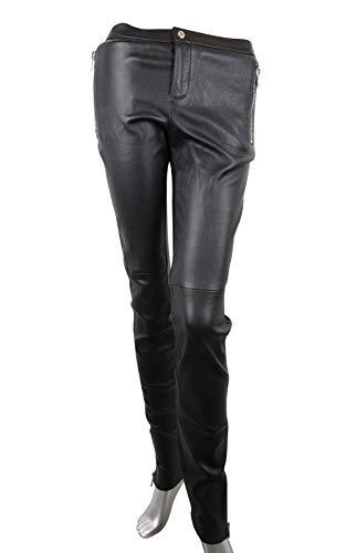 Gucci Women's Leggings Black Leather Stretch Pants