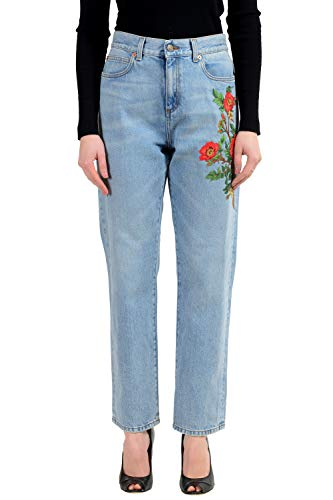 Gucci Blue Embellished Women's Jeans