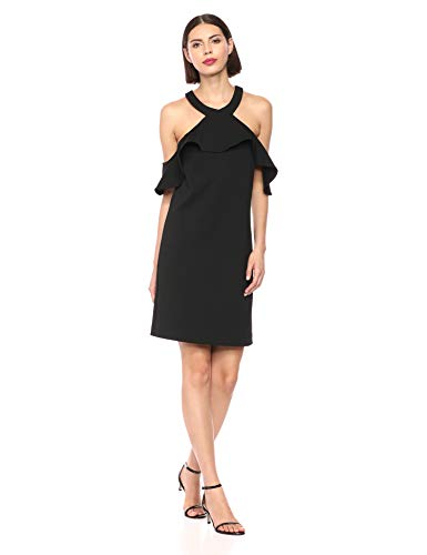 Trina Trina Turk Women's Jurnee Ruffle Cold Shoulder Dress
