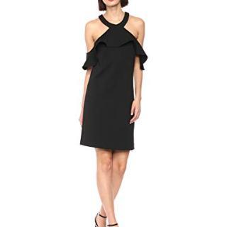 Trina Trina Turk Women's Jurnee Ruffle Cold Shoulder Dress