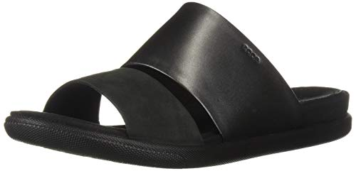ECCO Women's Women's Damara Ii Slide Flat Sandal, Black Dark Shadow, 38 M EU (7-7.5 US)