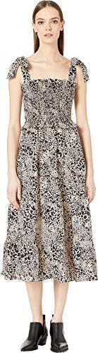 Rebecca Taylor Women's Short Sleeve Leopard Dress