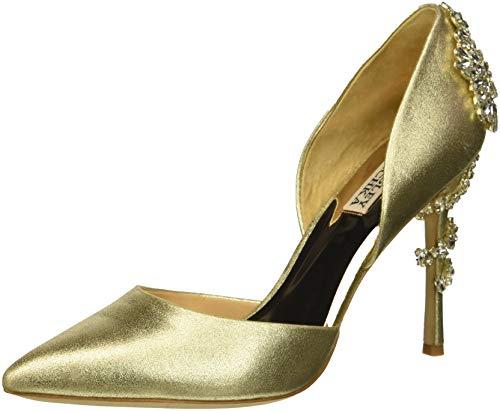 Badgley Mischka Women's Vogue II Pump, Platino Metallic Suede