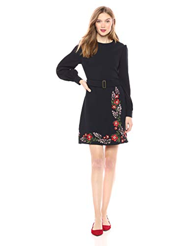 Ted Baker Women's Siliia, Dark Blue, 2 Feature: Ted's SILIIA dress is certain to create an impression with its easy outline and exemplary style Ted Baker ladies' wear collection Beautiful Embroidered Dress with Classic Neckline and Flattering Fit