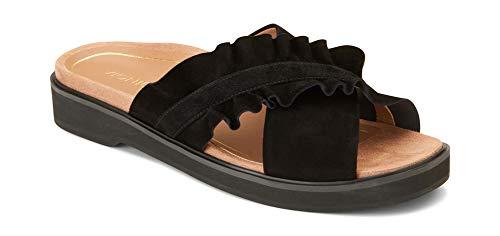 Vionic Women's Leila Azalea Slide- Ladies Concealed Orthotic Support Sandal Black 9 M US