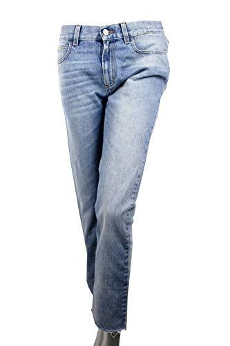 Gucci Women's Denim Capri Light Blue Cotton Super Bleach Washed Jeans