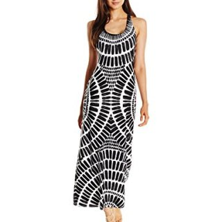 Trina Turk Women's Algiers Long Dress Cover up, Black, Medium