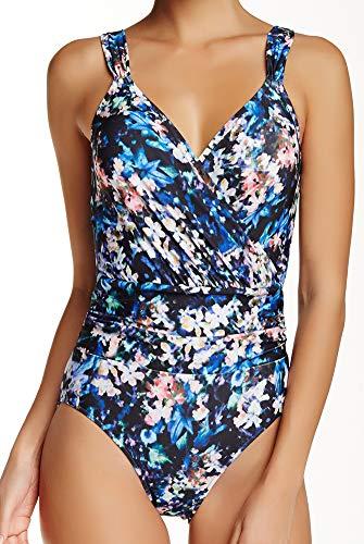 Badgley Mischka One Piece Swimwear Swimsuit Draped