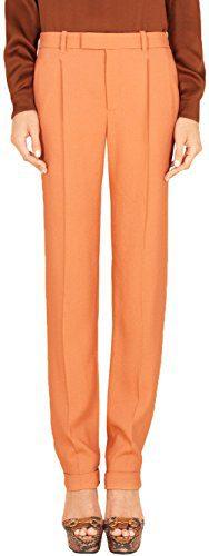 Gucci Women's Salmon Stretch Viscose Slim Pants