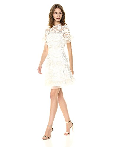Shoshanna Women's Sora Short-Sleeve Fit and Flare Dress