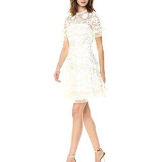 Shoshanna Women's Sora Short-Sleeve Fit and Flare Dress