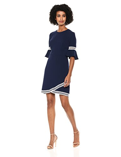 Shoshanna Women's Val Three Quarter Sleeve Dress