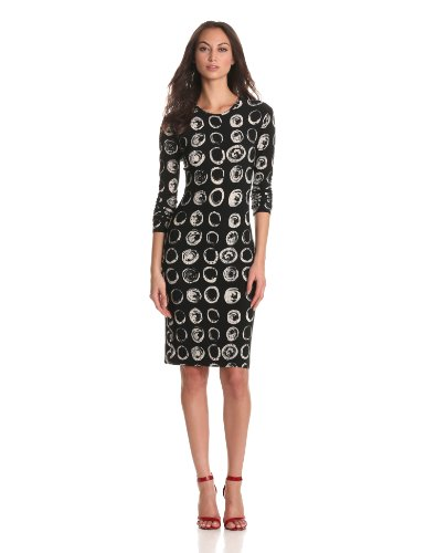 KAMALIKULTURE Women's Long Sleeve Crewneck Dress