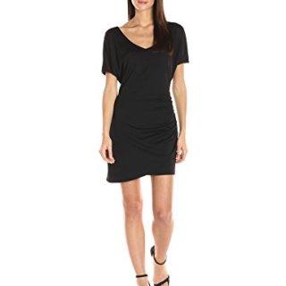 Susana Monaco Women's V Neck Dress, Black, M