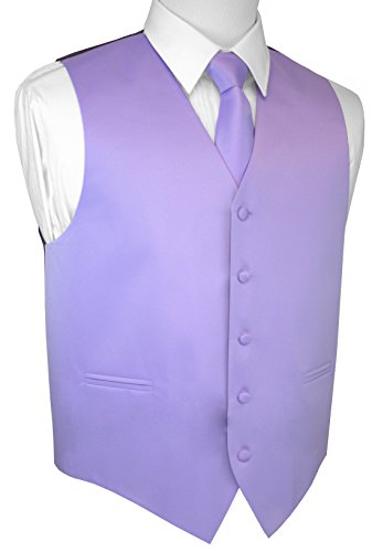 Brand Q Men's Formal Prom Wedding Tuxedo Vest, Tie & Pocket