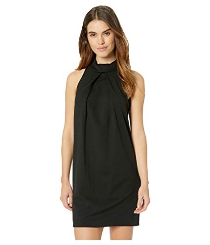 Trina Trina Turk Women's Straight Up Roll Neck Sleeveless Dress