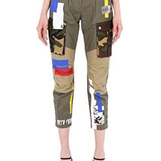 Dolce e Gabbana Women's Green Cotton Pants