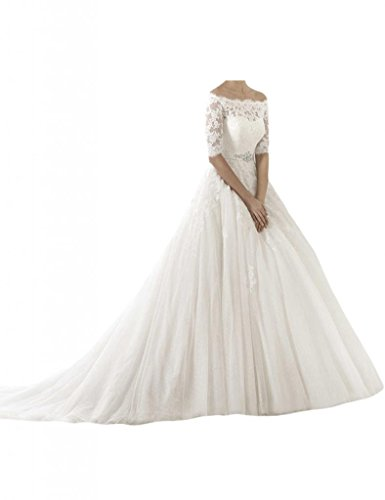MILANO BRIDE Retro Bridal Wedding Dress Bateau