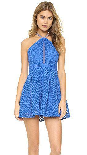 STYLESTALKER Women's Monroe Dress, Aster Blue, Medium