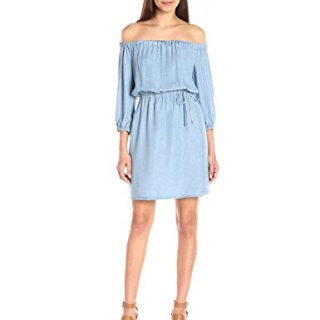 Splendid Women's Indigo Off The Shoulder Dress