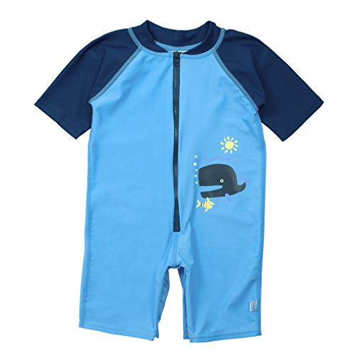 i play. Baby One Piece Swim Sunsuit, Blue Whale, 12 Months