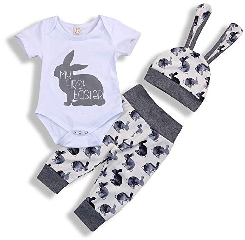 My 1st Easter Newborn Baby Boy Girl Outfits Rabbit