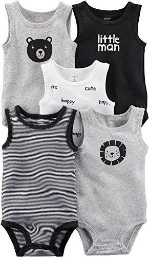 Carter's Baby Boys' 5-Pack Tank Top Original Bodysuits (Little Man)