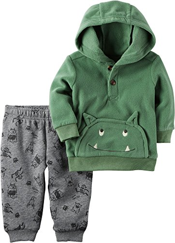 Carter's Baby Boys' 2 Piece Monster Hoodie And Fleece