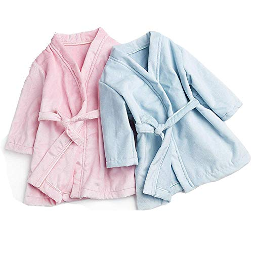 Baby Robes Flannel Silk Child Boys Girls Bath Robes Long Sleeve