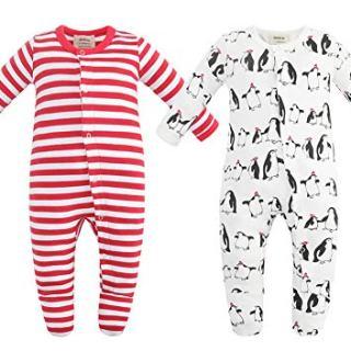 Owlivia Unisex-Baby Organic Button Cotton Sleep N Play Pajamas