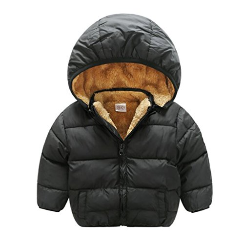 Baby Boys Girls Winter Puffer Coat Unisex Kids Fleece