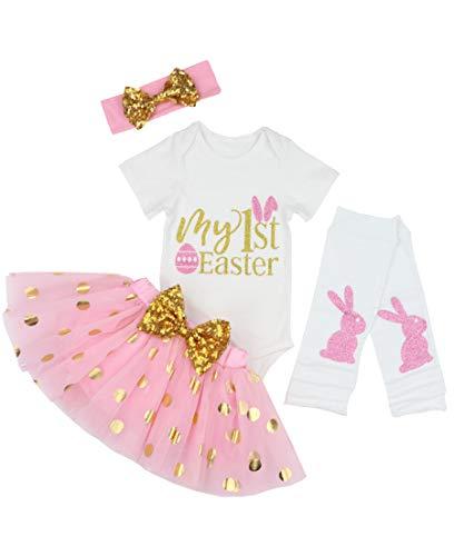 Baby Girls My 1st Easter Tutu Romper Dress Short Bodysuit