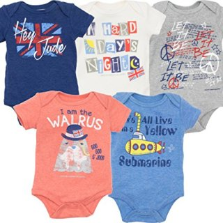 The Beatles Lyrics Infant Baby Boys' 5 Pack Onesies Blue