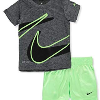 Nike Baby Boys' 2-Piece Shorts Set Outfit - Lime Blast