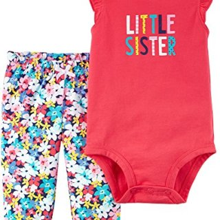 Carter's Baby Girls' 2 Piece Bodysuit Pant Set 6 Months