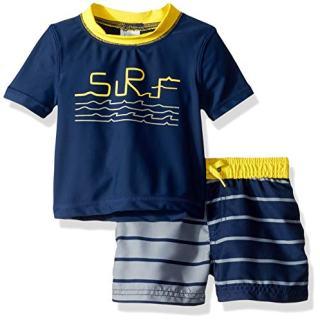 Kiko & Max Baby Boys Set with Short Sleeve Rashguard Swim Shirt