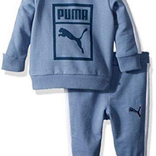 PUMA Baby Boys' Heritage 2 Piece Set, Infinity, 6-9 Months