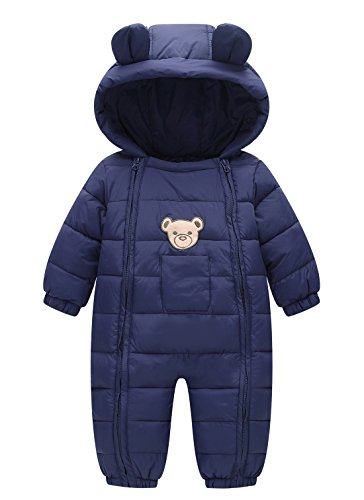 Happy Cherry Baby Cotton Clothes Down Jacket Jumpsuits