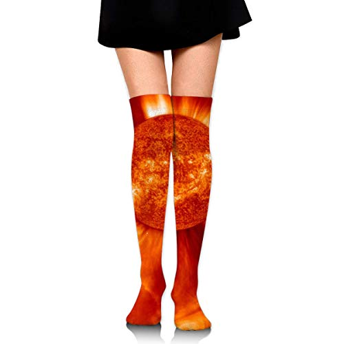 Kyliel Over the Knee Thigh High Socks,Sun Print High Boot