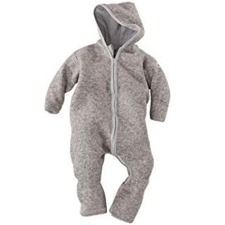 Lilano Organic Merino Wool Baby Overall with Hood