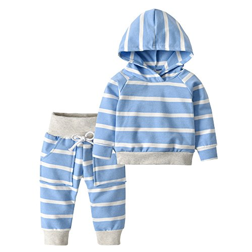 Derouetkia Toddler Infant Baby Boys Girls Stripe Long Sleeve