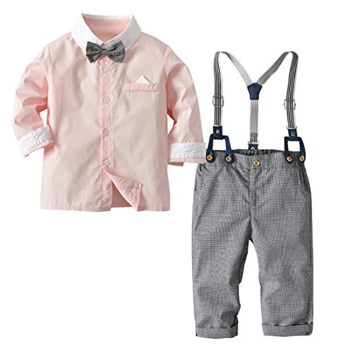 Little Boys Gentleman Set Suspender Bowtie Outfits