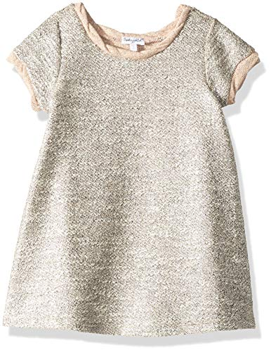Splendid Little Girls' Kids Short Sleeve Dress, Lurex Pale Dogwood