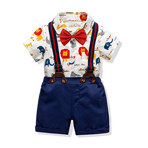 Baby Boys Short Sleeve Gentleman Outfit Suits,Infant Boys