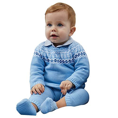 Petit Clan Newborn Baby Boy 2 Pieces Cardigan with Pant Set