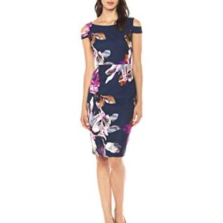 Trina Trina Turk Women's Adley Boatneck Midi Dress