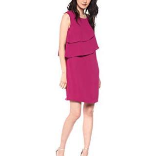 Trina Trina Turk Women's Luna Tiered Short Sleeve Shift Dress