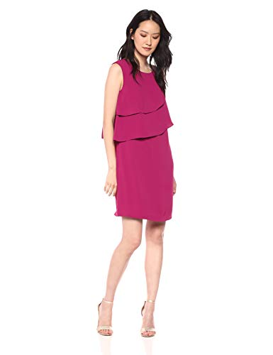 Trina Trina Turk Women's Luna Tiered Short Sleeve Shift Dress