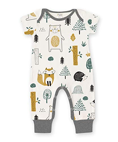 Tesa Babe Romper with Forest & Animals Print for Newborns & Baby Boys