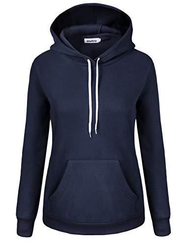 Abollria Women Sweatshirts Long Sleeve Tunic Kangaroo Pockets Pullover Hoodies